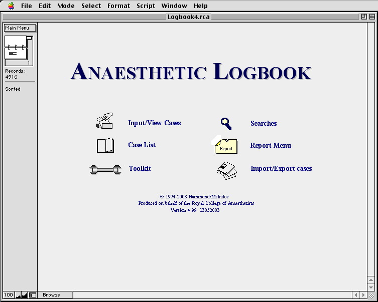 ANAESTHETIC LOGBOOK 4